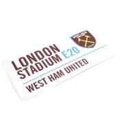 Plechová cedule West Ham velká