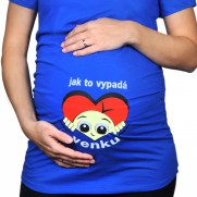 Těhotenské tričko Ja to vypadá venku