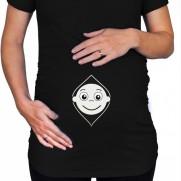 Těhotenské tričko Kuk, budu kluk!