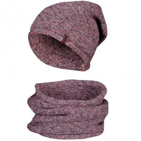 Zimní čepice s nákrčníkem NowMark, melír