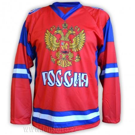 Hokejový dres Rusko - červený