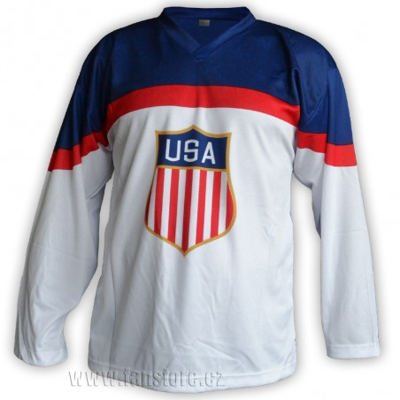 Hokejový dres USA - bílý