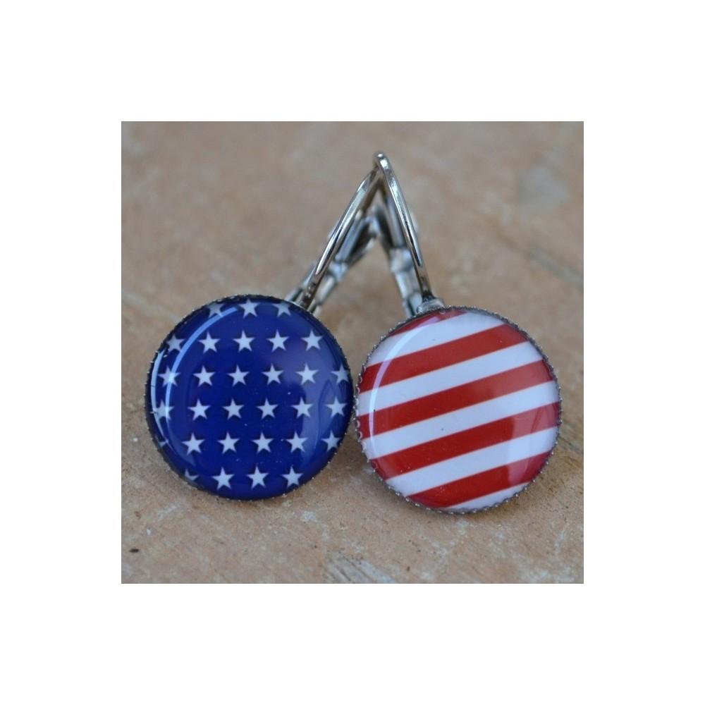 Náušnice USA vlajky
