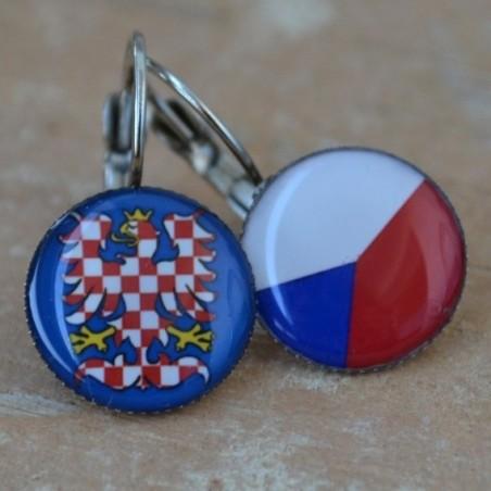 Náušnice česká vlajka / moravská orlice