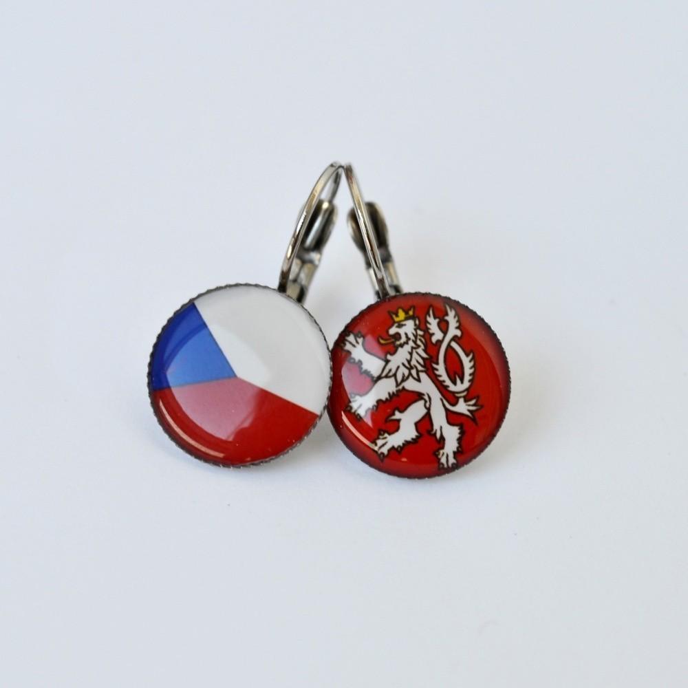 Náušnice Česká republika vlajka - lev