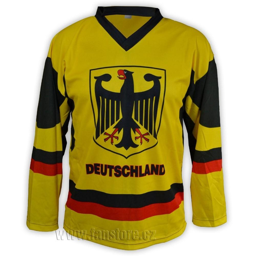 Hokejový dres Německo - žlutý