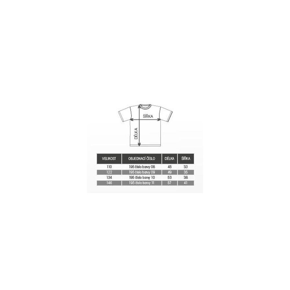 Tabulka velikostí - trička AF