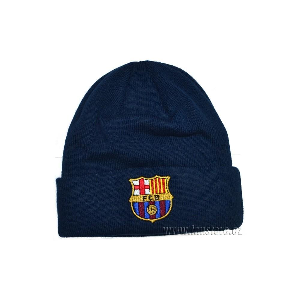 Zimná čiapka FC Barcelona modrá s lemom
