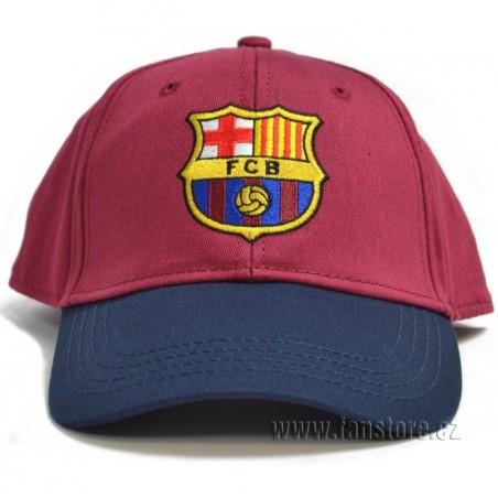 Šiltovka FC Barcelona vínovo-modrá