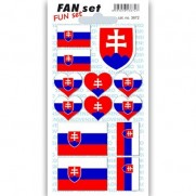 Fan set Slovensko - sada samolepiek