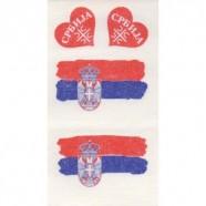 Tetovací obtisky Srbsko srdíčka