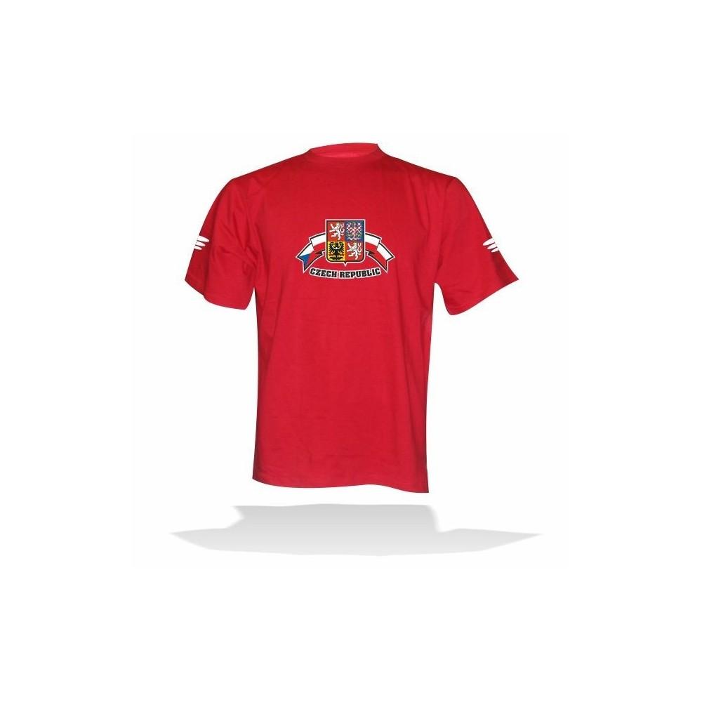 Tričko červené CZECH REPUBLIC 82f1c1bed5