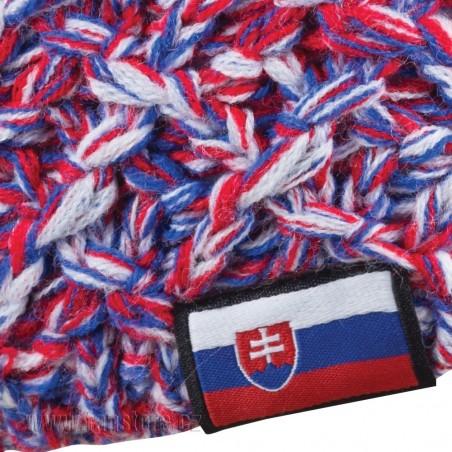 Čepice Slovensko - tkaný štítek