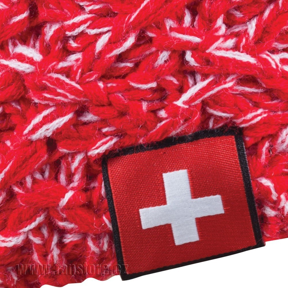 Zimná čiapka Patriot Švajčiarsko, detail