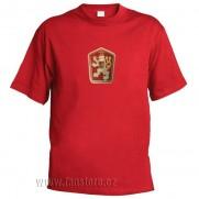 Retro tričko ČSSR červené
