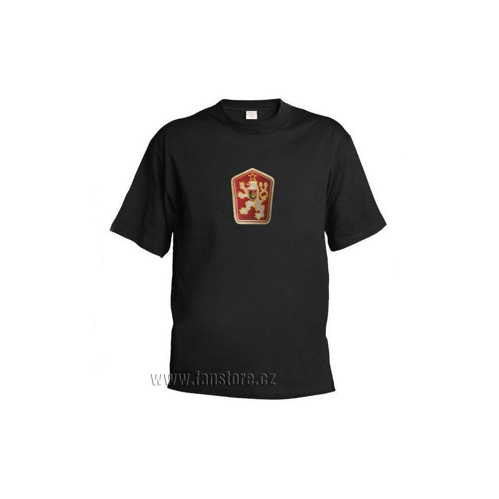 Retro tričko ČSSR čierne