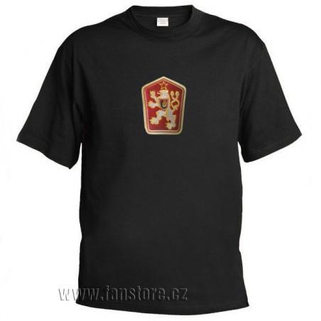 Retro tričko ČSSR černé