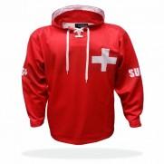 Mikina Švýcarsko červená