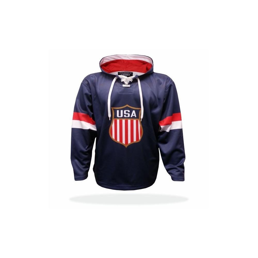 Mikina USA modrá