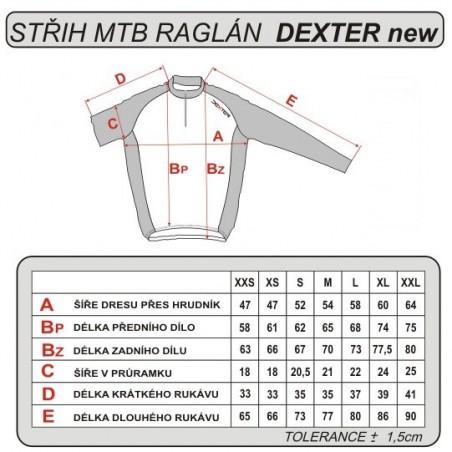 Cyklistický dres - tabuľka veľkostí