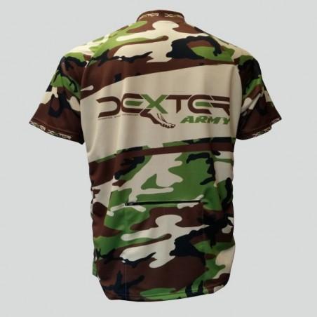 Cyklo dres Dexter Army MTB, khaki, zadný diel