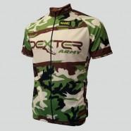 Cyklo dres Dexter Army Race, khaki, zadný diel
