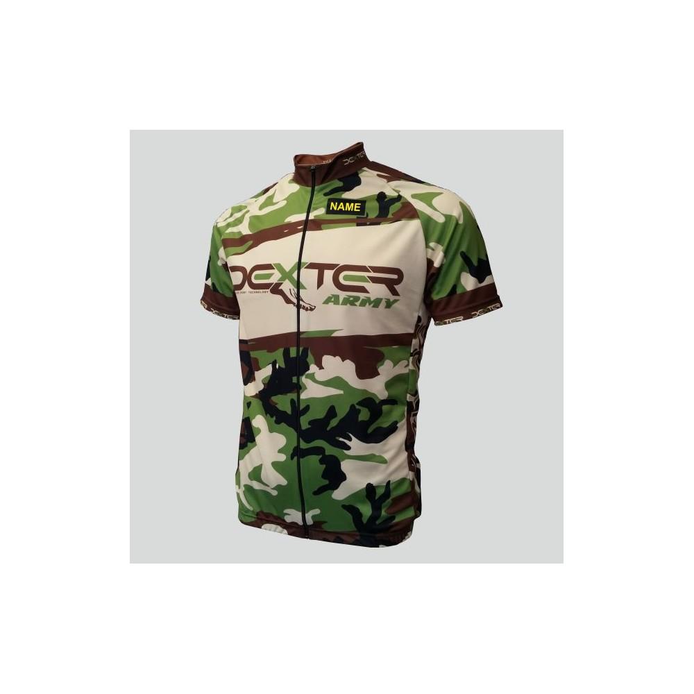 Cyklodres Dexter Army Race, khaki, záď