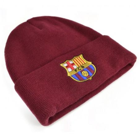 Zimná čiapka FC Barcelona vínová s lemom