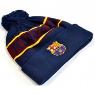 Zimná čiapka FC Barcelona modrá s prúžkami