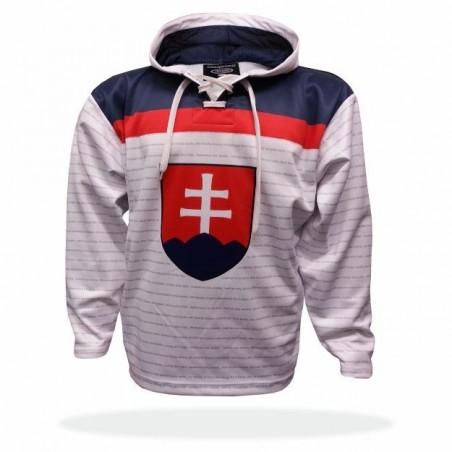Mikina Slovensko bílá