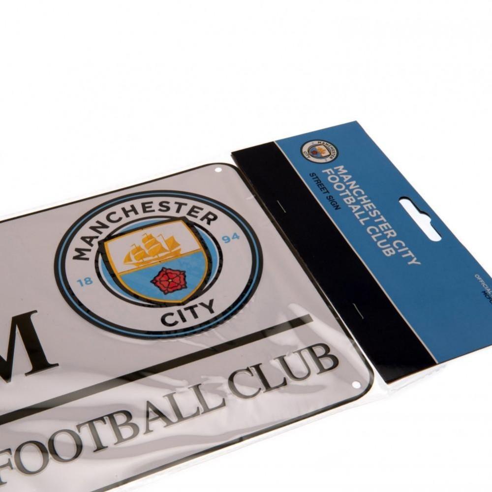 Plechová ceduľa Manchester City v blistri
