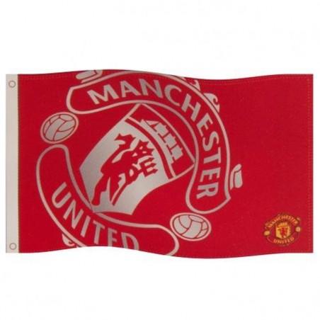 Vlajka Manchester United Silver Crest