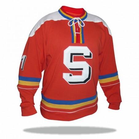 Dobový dres HC Sparta červený