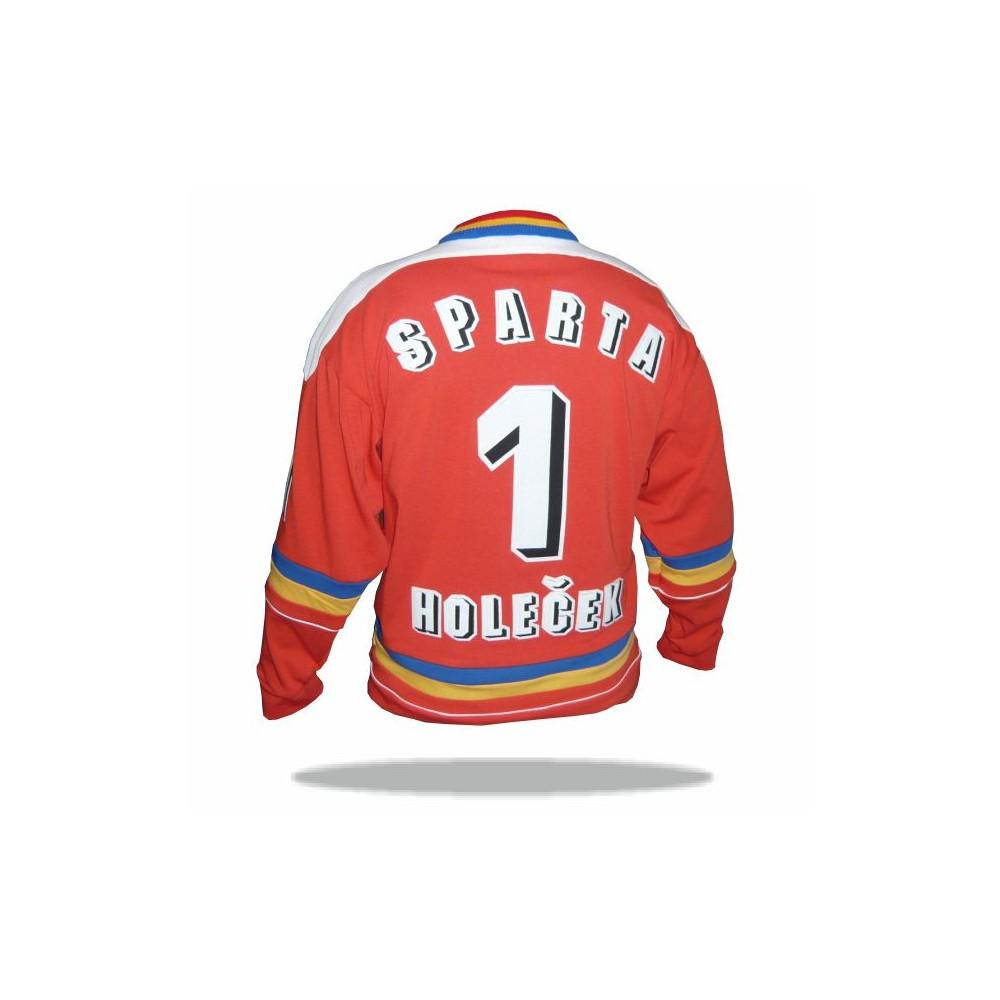 Dobový dres HC Sparta červený chrbát