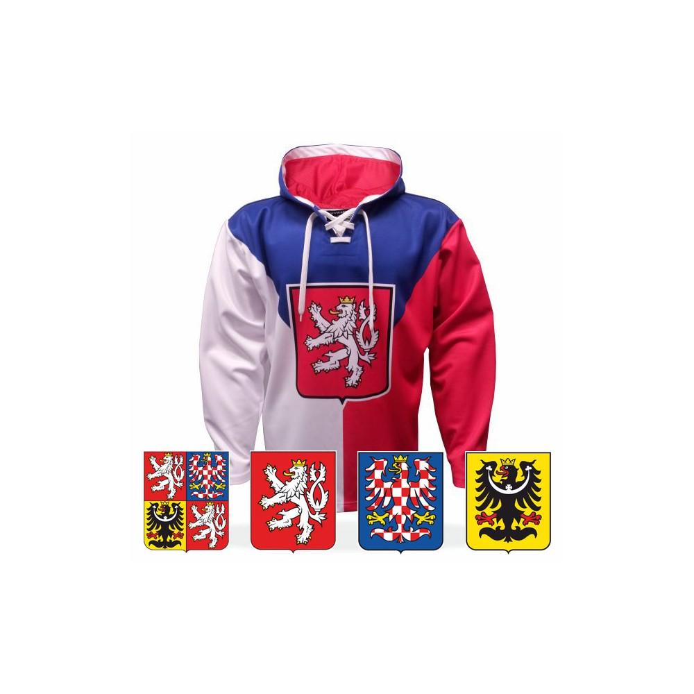 Mikina ČR s vlajkou
