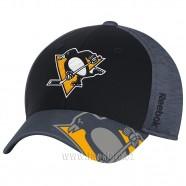 Kšiltovka Pittsburgh Penguins Playoff Black FlexFit