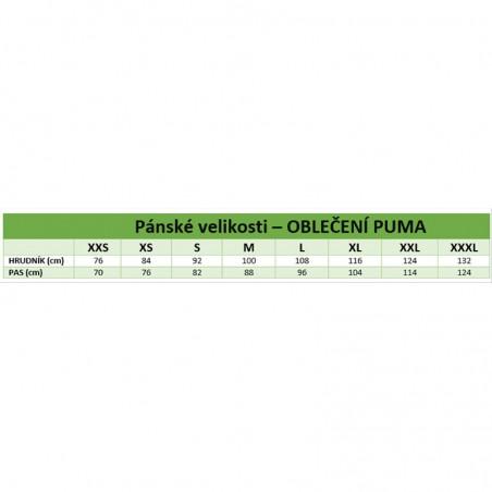 659/5000 Tabuľka veľkostí - oblečenie Puma