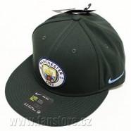 Kšiltovka Nike Manchester City CTC zelená s rovným kšiltem