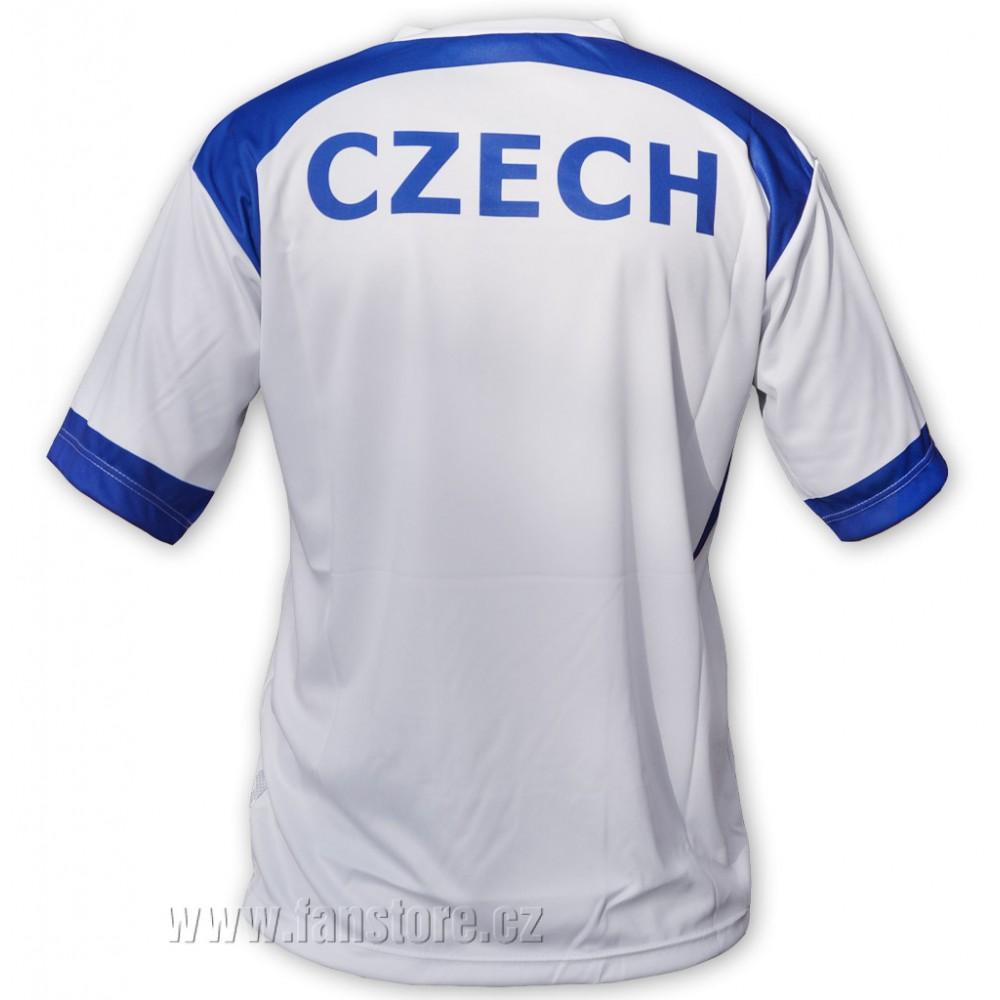 Dres futbalový CZECH biely, chrbát