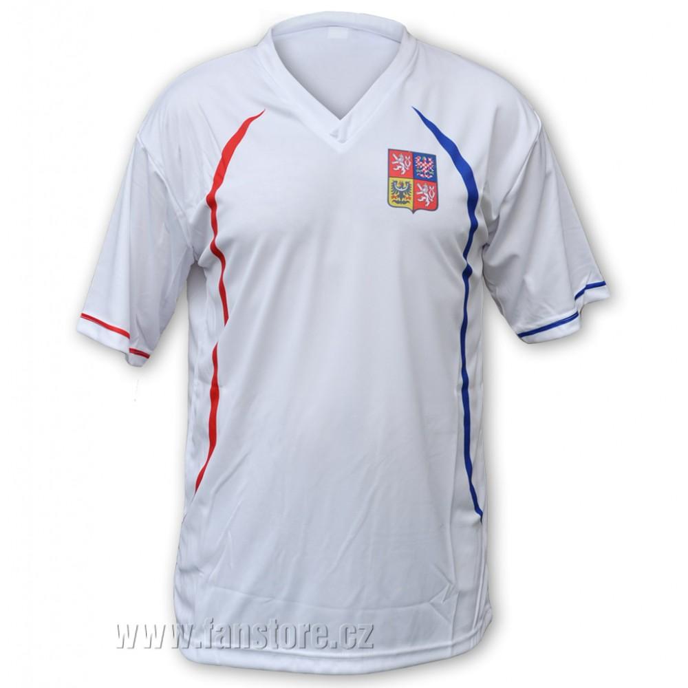 FAN dres fotbalový ČR, bílý