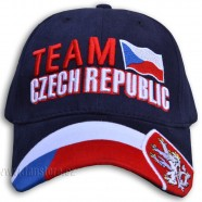 Kšiltovka Team Czech republic modrá - čelo