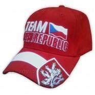 Kšiltovka Team Czech republic červená