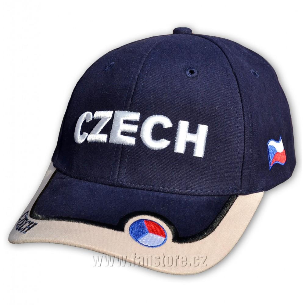 Kšiltovka ČR s nápisem CZECH modrá