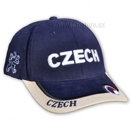 Kšiltovka ČR s nápisem CZECH modrá - bok