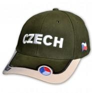 Kšiltovka ČR s nápisem CZECH zelená