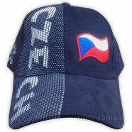 Kšiltovka s nápisem CZECH modrá - čelo