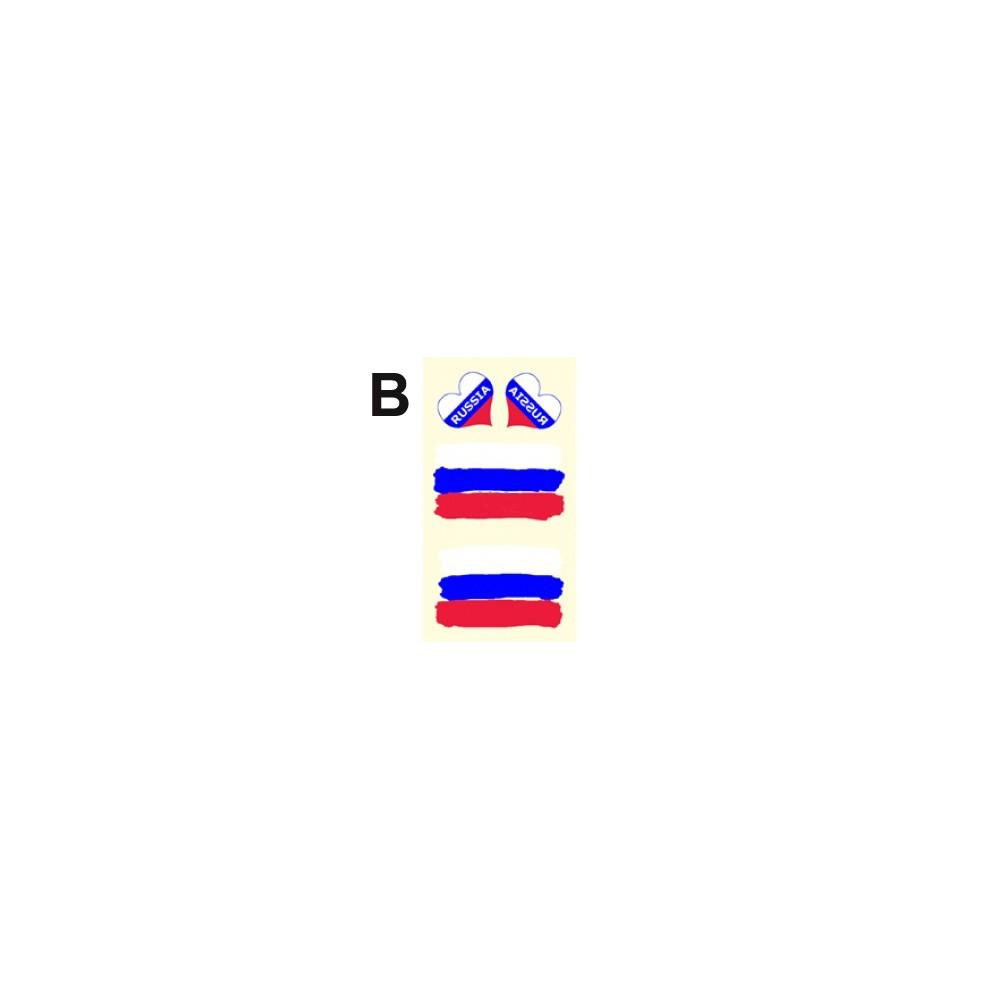 Tetovací obtisky Rusko, motiv B