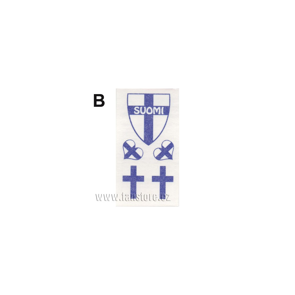 Tetovací obtisky Finsko, motiv B