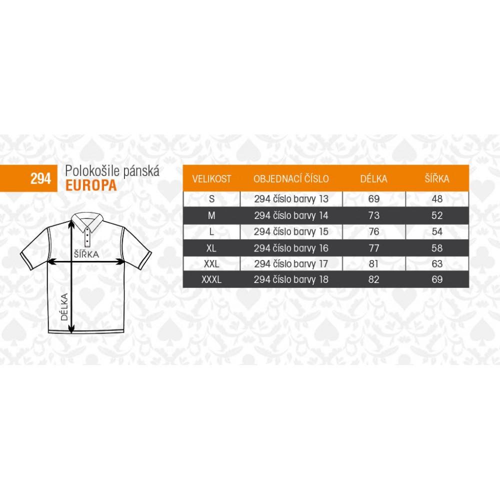 Tabuľka veľkostí - tričká AF