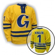 Dobový dres TJ Gottwaldov žlutý
